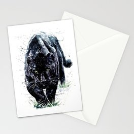 Watercolor Panther Stationery Cards