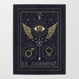 Le Jugement or The Judgement Tarot Poster