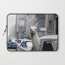 Llama Riding In Taxi In Color Laptop Sleeve