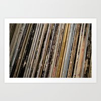 records Art Prints featuring Records  by Sugar & Brownie
