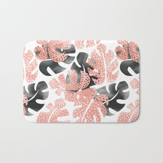 Monstera shadow Bath Mat