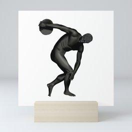Man Statue in Black Mini Art Print