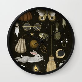 october nights Wall Clock