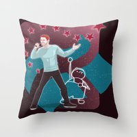 heroes Throw Pillows featuring Heroes by Ilthit