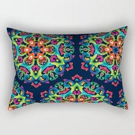 Tatar Native Ornamental Mandala Rectangular Pillow