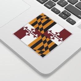 Maryland State Flag, Hi Def image Sticker