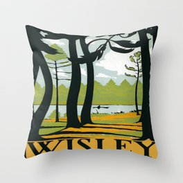 Vintage poster - Wisley Throw Pillow