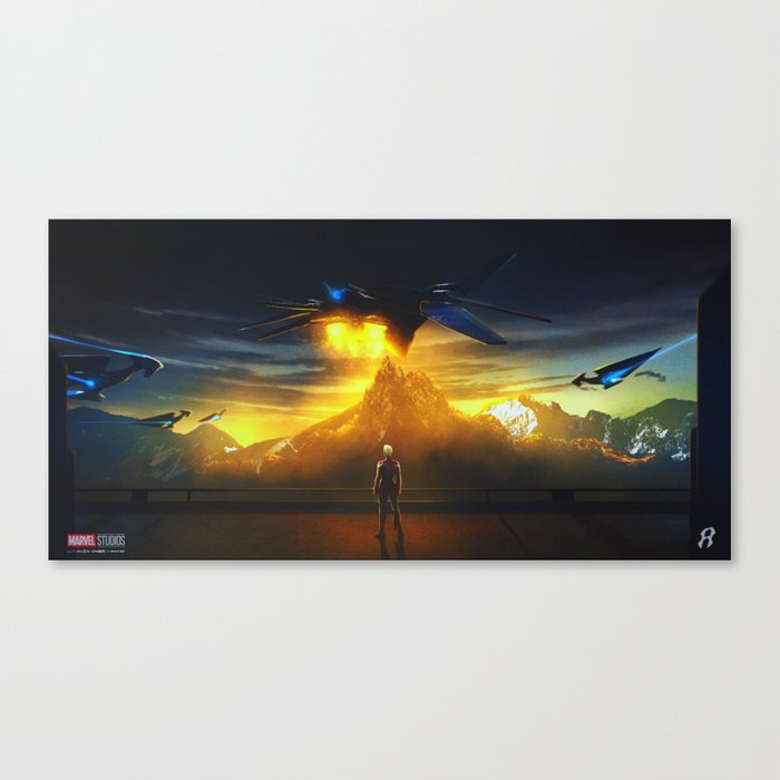 CaptainMarvel Canvas Print