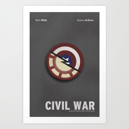 Minimalist Civil War Art Print