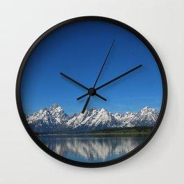 Grand Teton Reflection Wall Clock