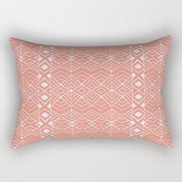 Aztec Coral Rectangular Pillow