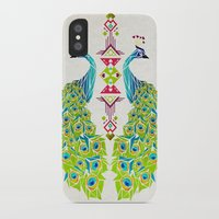 peacock iPhone & iPod Cases featuring peacock by Manoou