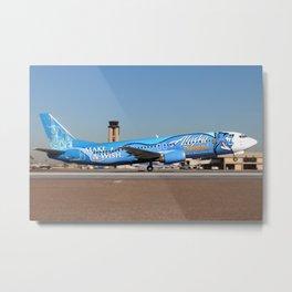 "Alaska Airlines ""Make a Wish"" Boeing 737-400 Metal Print"