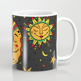Moon, sun and stars pattern Coffee Mug