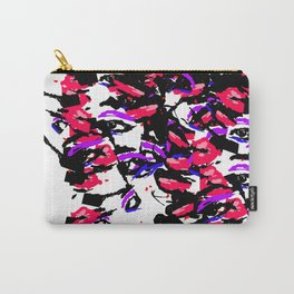 Abstract Faces Carry-All Pouch