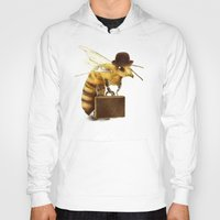 bee Hoodies featuring Worker Bee by Eric Fan