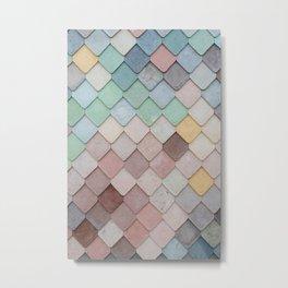 Colorful Tiling Metal Print