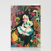 garden Stationery Cards featuring Alice in Wonderland by Karl James Mountford