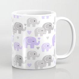 Purple Gray Elephant Baby Girl Nursery Coffee Mug