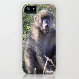 """""""Hey, whassup,"""" said the Baboon iPhone Case"""