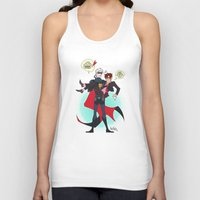 yaoi Tank Tops featuring PruMano superheroes by Jackce