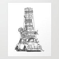 Stack Yo Rack Art Print
