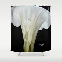 Moon Flower by kathy Morton Stanion Shower Curtain