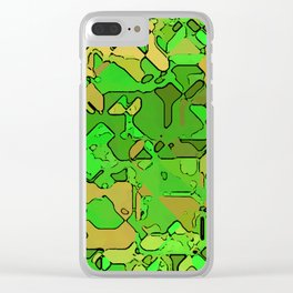 Abstract segmented 2 Clear iPhone Case