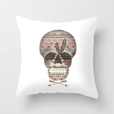 SKULL & ARROW  Throw Pillow