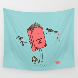 Murder She Read Wall Tapestry