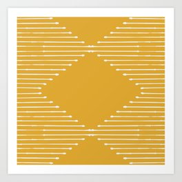 Geo (Yellow) Art Print