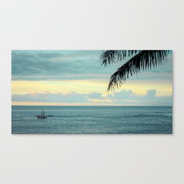 Waimea at Sunset - Hawaii Seascapes #5 - Aikau & Hokulea Canvas Print