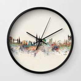 london england skyline Wall Clock