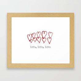 love, love, love Framed Art Print