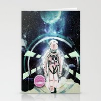 2001 a space odyssey Stationery Cards featuring 2001: A Space Odyssey by Andreea Benu
