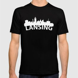 Curved Skyline Of Lansing MI T-shirt