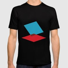 Anaglyph Mens Fitted Tee MEDIUM Black