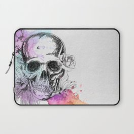 Skull flowers Laptop Sleeve
