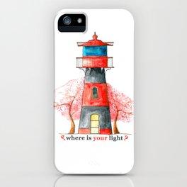 Lighthouse&Sacura iPhone Case