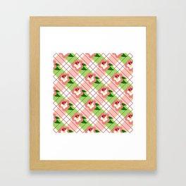 FLORAL PLAID Framed Art Print