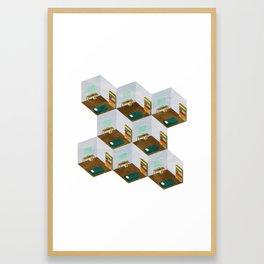 Repetitive Days Framed Art Print