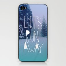 Let's Run Away: Rainier National Forest, Oregon iPhone & iPod Skin