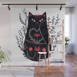 Russian kitty Wall Mural