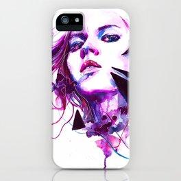Purple Woman (Color) iPhone Case
