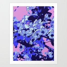Almond blossom pop-art Art Print