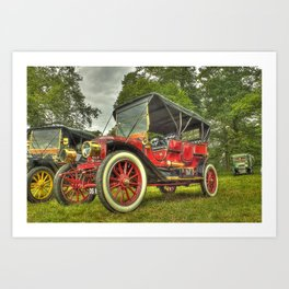 Stanley Steam Car Art Print