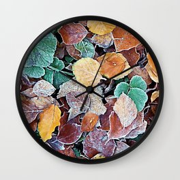 Autumn Frost Wall Clock