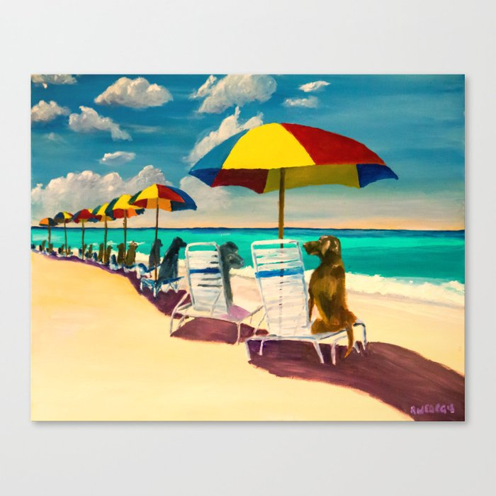 Beach Day Canvas Print