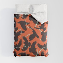 Crows with Ribbon Comforters