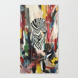 "Series Wild Life ""Le Zebre"" Canvas Print"